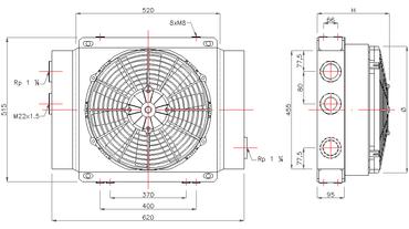 Ölkühler Typ GR500S (12V/24V) – Bild 2