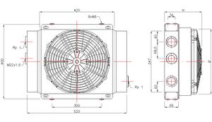 Ölkühler Typ GR200S (12V/24V) – Bild 2