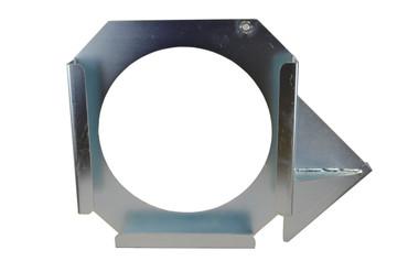 Halterung für Abstützplatten 50x50cm (links, verzinkt)