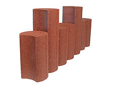 Gummipalisaden 400 mm & 600 mm Palisade aus gummi, rotbraun mit stock