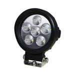 6 LED Arbeitsscheinwerfer rund | 18 W | 80°