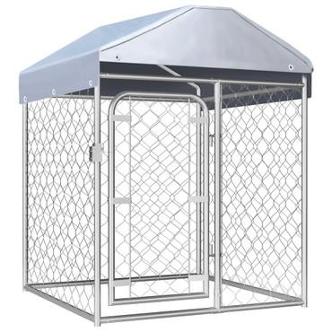 vidaXL Outdoor-Hundezwinger mit Überdachung 100 x 100 x 125 cm