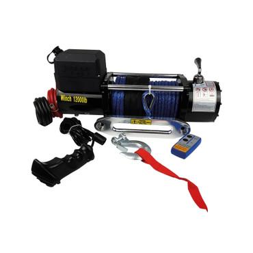 12V Motorwinde Set mit Synthetikseil - bis 10,8 t – Bild 1