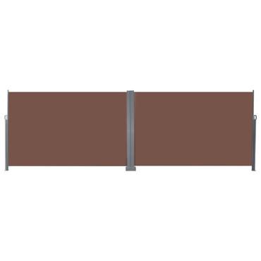 Ausziehbare Seitenmarkise 200x600 cm Braun – Bild 2