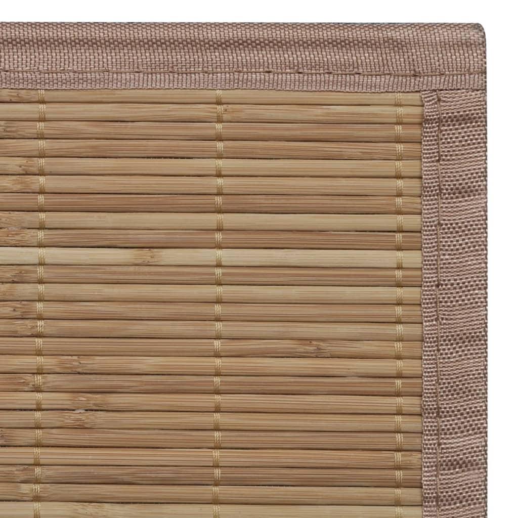 Teppich Bambus 100 x 160 cm Natur T2X5