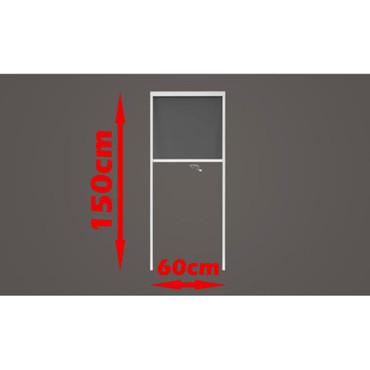 Fliegengitter Insektenschutz Rollo 60 x 150 cm – Bild 6