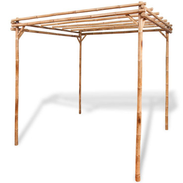 Pergola Bambus 195 x 195 x 195 cm – Bild 1