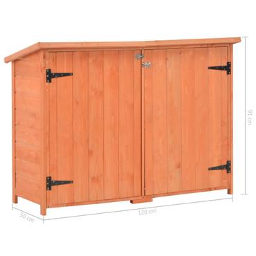 Garten-Lagerschuppen 120 x 50 x 91 cm Holz – Bild 12