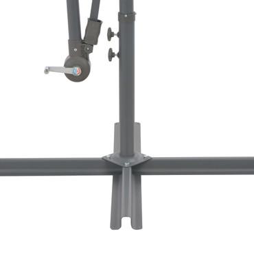 Ampelschirm mit Aluminium-Mast 350 cm Terrakotta-Farbton – Bild 7