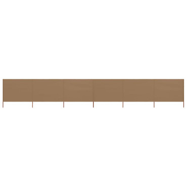 6-teiliges Windschutzgewebe 800 x 80 cm Taupe – Bild 2