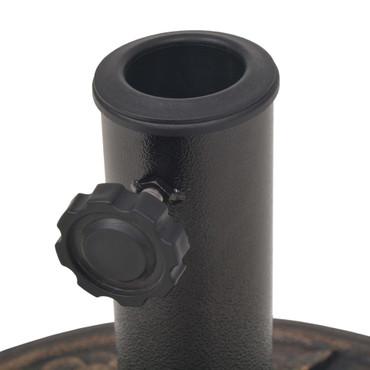 Sonnenschirmständer Harz Rund Bronze 9 kg – Bild 6