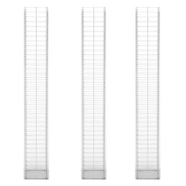 Gabionen-Set 3-tlg. Verzinkter Draht 25×25×197 cm  – Bild 3