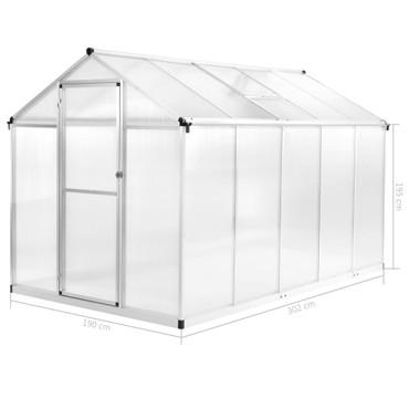 Gewächshaus Aluminium 302 x 190 x 195 cm 11,19 m³ – Bild 12