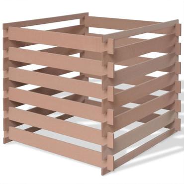 WPC Garten Komposter 90x90x85 cm Braun – Bild 1