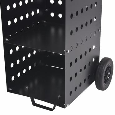 Kaminholzwagen mit Plastikreifen 36 x 42 x 105 cm – Bild 4