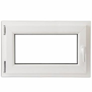 2 Fach Verglast Drehkippfenster PVC rechtsseitig Griff 800x500mm – Bild 2