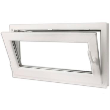 2 Fach Verglast Drehkippfenster PVC rechtsseitig Griff 900x500mm – Bild 3
