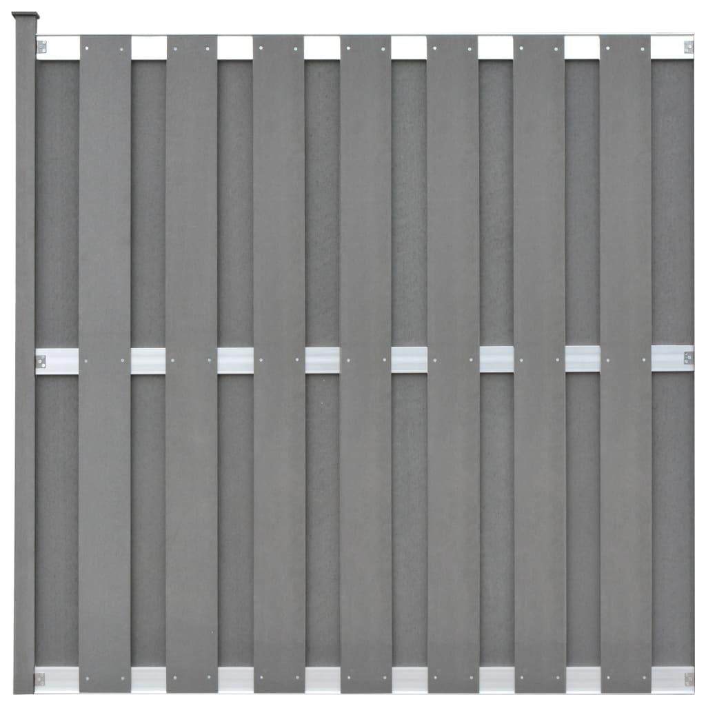 Vidaxl Zaunelement Mit 1 Pfosten Wpc 180 X 180 Cm Grau Gitoparts