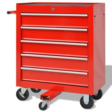 Werkstattwagen mit 269 Werkzeugen Stahl Rot – Bild 3