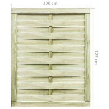 Gartentor Imprägniertes Kiefernholz 100 x 125 cm Grün – Bild 4