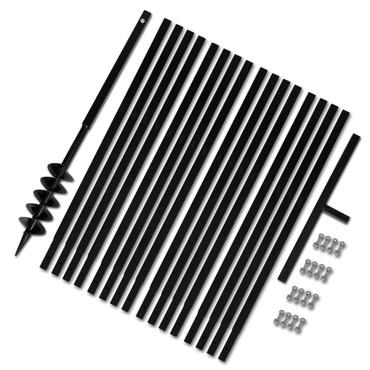 Erdbohrer mit Griff 100 mm Verlängerungsrohr 17 m – Bild 1
