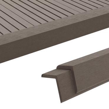 Terrassen-Winkelleisten 5 Stk. WPC 170 cm Dunkelbraun – Bild 1