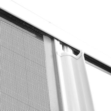 Insektenschutz zum Schieben für Türen 120 x 215 cm weiß – Bild 8