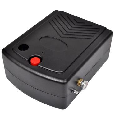Airbrush Kompressor Set mit Luftstrom-Regulator 1,5 m Luftschlauch – Bild 2