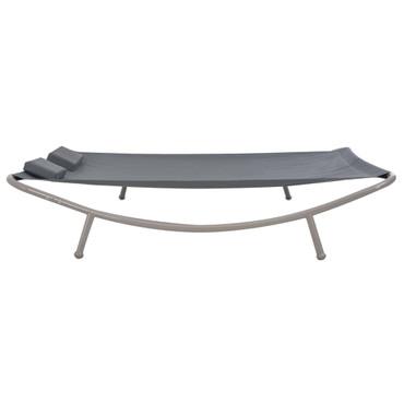 Outdoor Doppel-Loungebett Stahl Anthrazit 200 x 173 x 45 cm – Bild 1