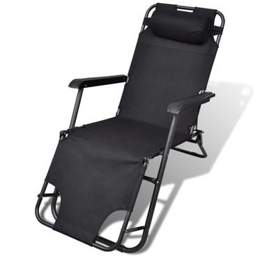 Garten Relaxsessel Fernsehsessel Loungesessel schwarz – Bild 1