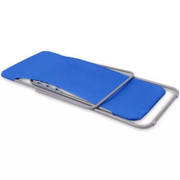 Klappbarer Strandstuhl 2 stk blau – Bild 7