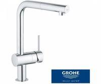 GROHE Minta Küchenarmatur 32168000 Hochdruck-Armatur in Chrom mit L-Auslauf und herausziehbarem Auslauf