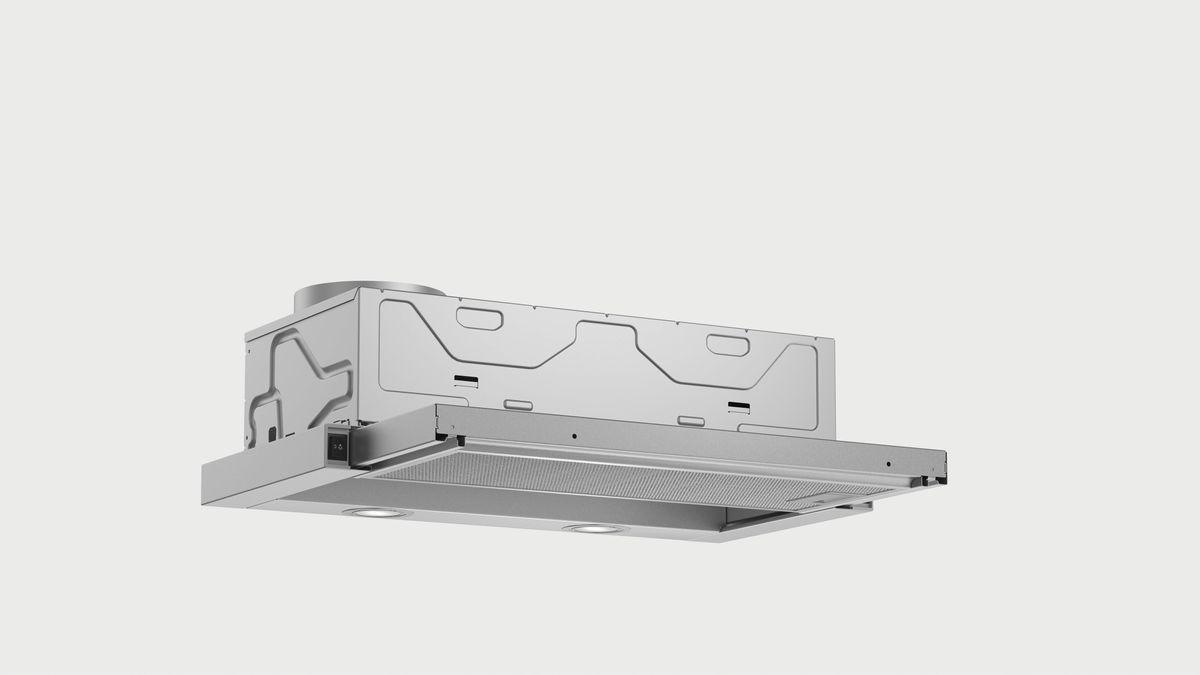 DFL064W50 grau-metallic 60 cm Flachschirmhaube – Bild 3