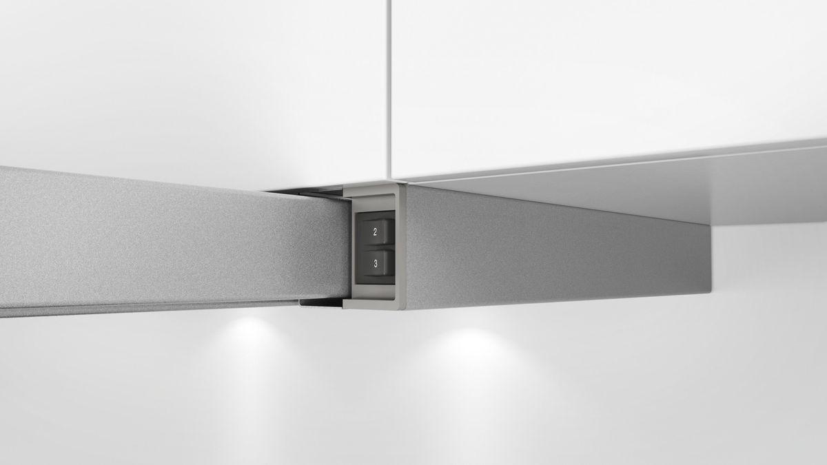 DFL064W50 grau-metallic 60 cm Flachschirmhaube – Bild 5