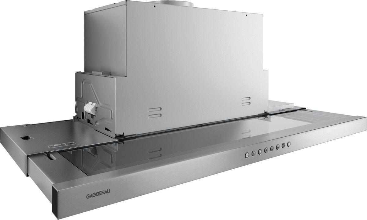 AF210191 Flachschirmhaube Serie 200 Edelstahl-Griffleiste Breite 90 cm Abluft-/ Umluftbetrieb – Bild 1