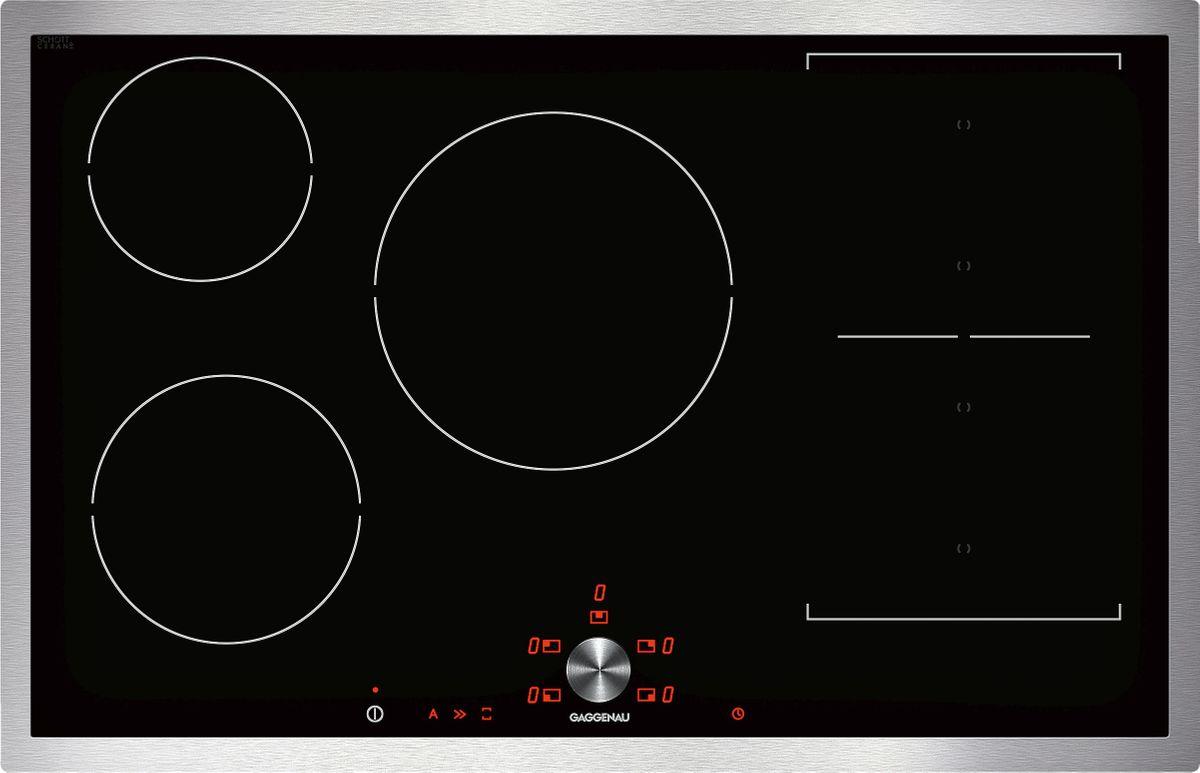 ci483110 flex induktionskochfeld edelstahlrahmen breite 80 cm elektroger te kochfeld kochstelle. Black Bedroom Furniture Sets. Home Design Ideas