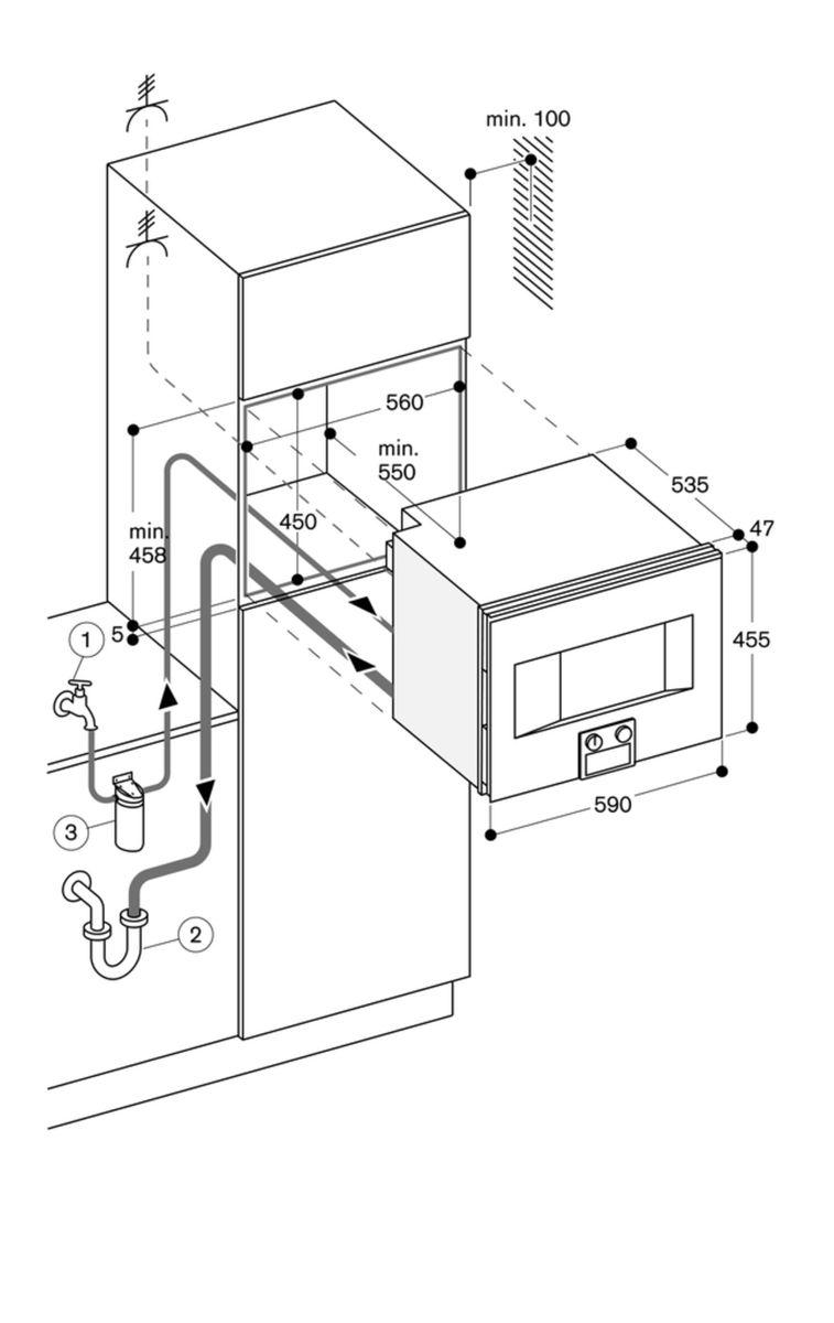 Gaggenau BS471101, Einbau-Kompaktdampfbackofen – Bild 5