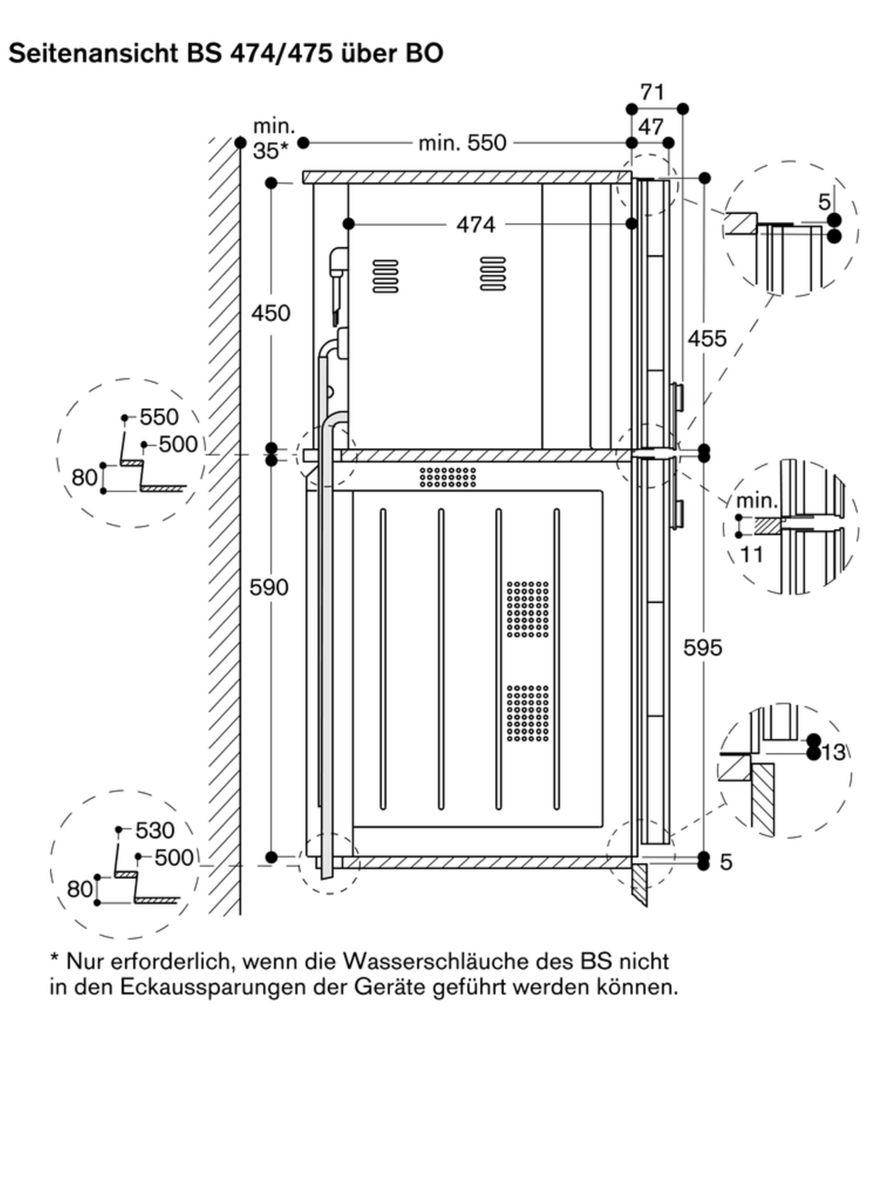 Gaggenau BS471111, Einbau-Kompaktdampfbackofen – Bild 5