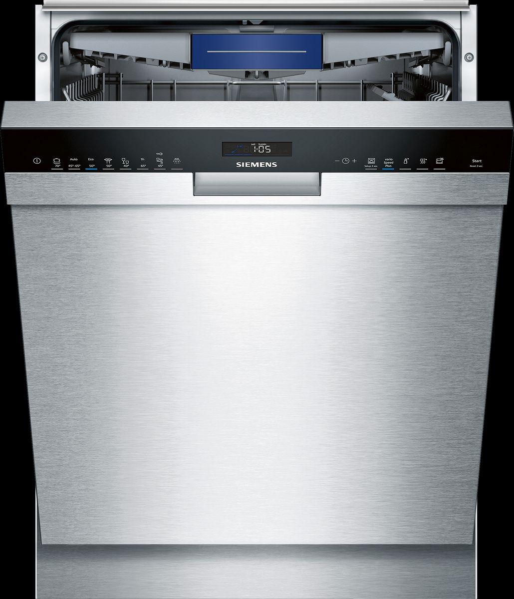 SN458S02ME Unterbaugerät - Edelstahl speedMatic Geschirrspüler 60 cm Inkl. Sockelblech
