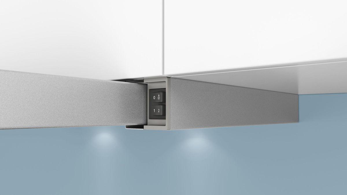 LI63LA520 Silbermetallic 60 cm Flachschirmhaube – Bild 5