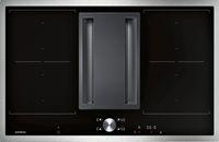 CV282110 Flex-Induktionskochfeld mit integriertem Lüftungssystem Serie 200 Edelstahlrahmen Breite 80 cm Abluft-/ Umluftbetrieb Lieferung ohne Verrohrung
