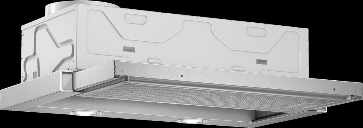DFL063W55 grau-metallic Flachschirmhaube, 60 cm