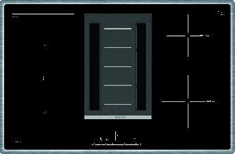 PVS845F11E Induktions-Kochfeld mit integriertem Dunstabzug 80 cm Induktions-Kochfeld Glaskeramik – Bild 1
