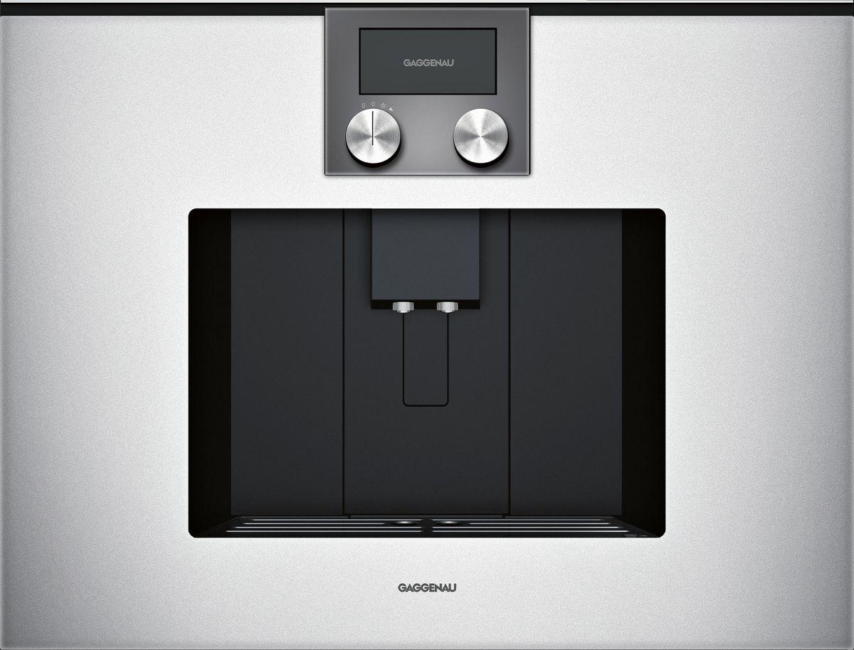 CMP250131 Espresso-Vollautomat Serie 200 Vollglastür in Gaggenau Silber Breite 60 cm Bedienung oben
