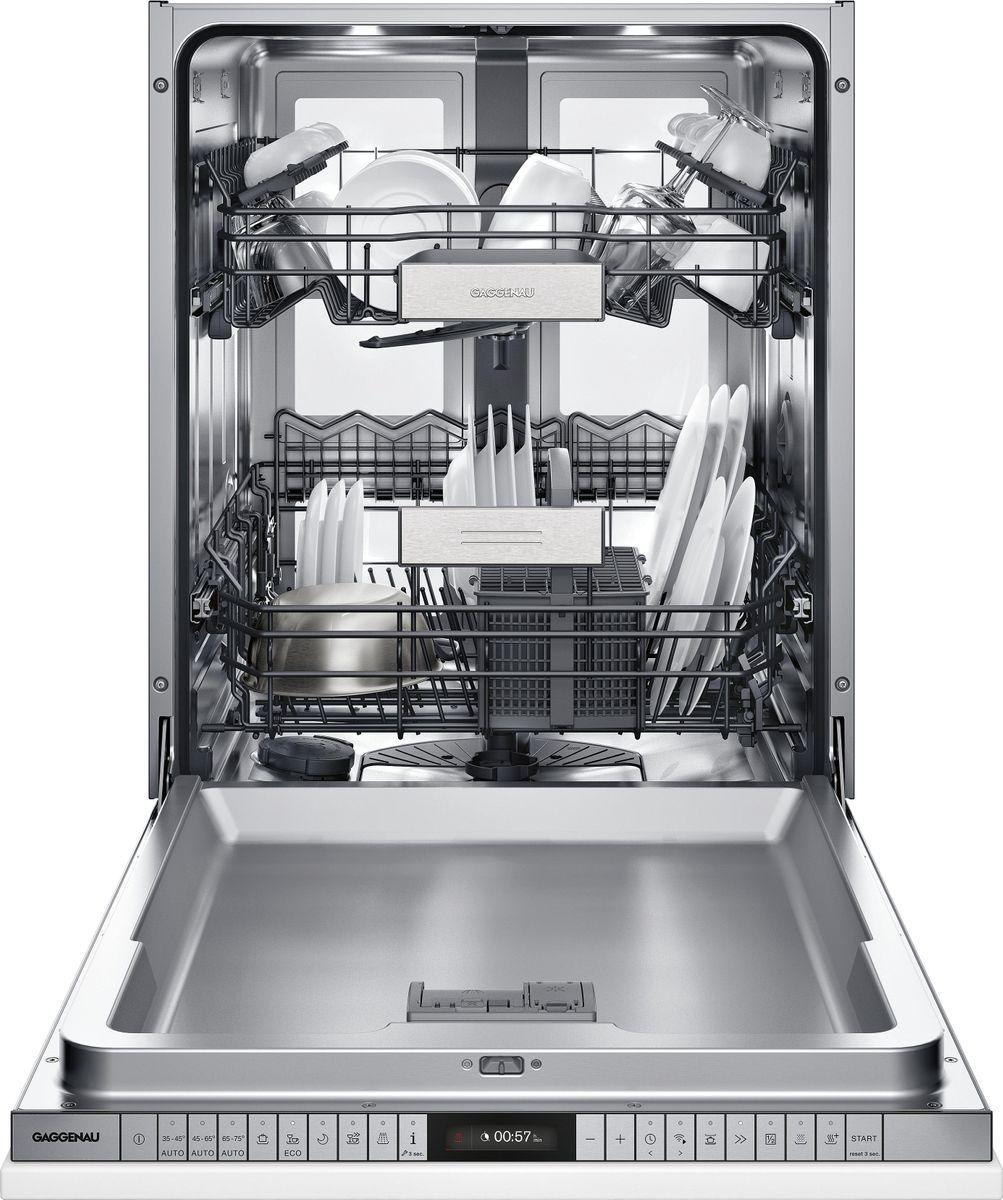 DF481162F Geschirrspüler Serie 400 Voll integrierbar Mit flexiblem Scharnier Höhe 86.5 cm – Bild 1