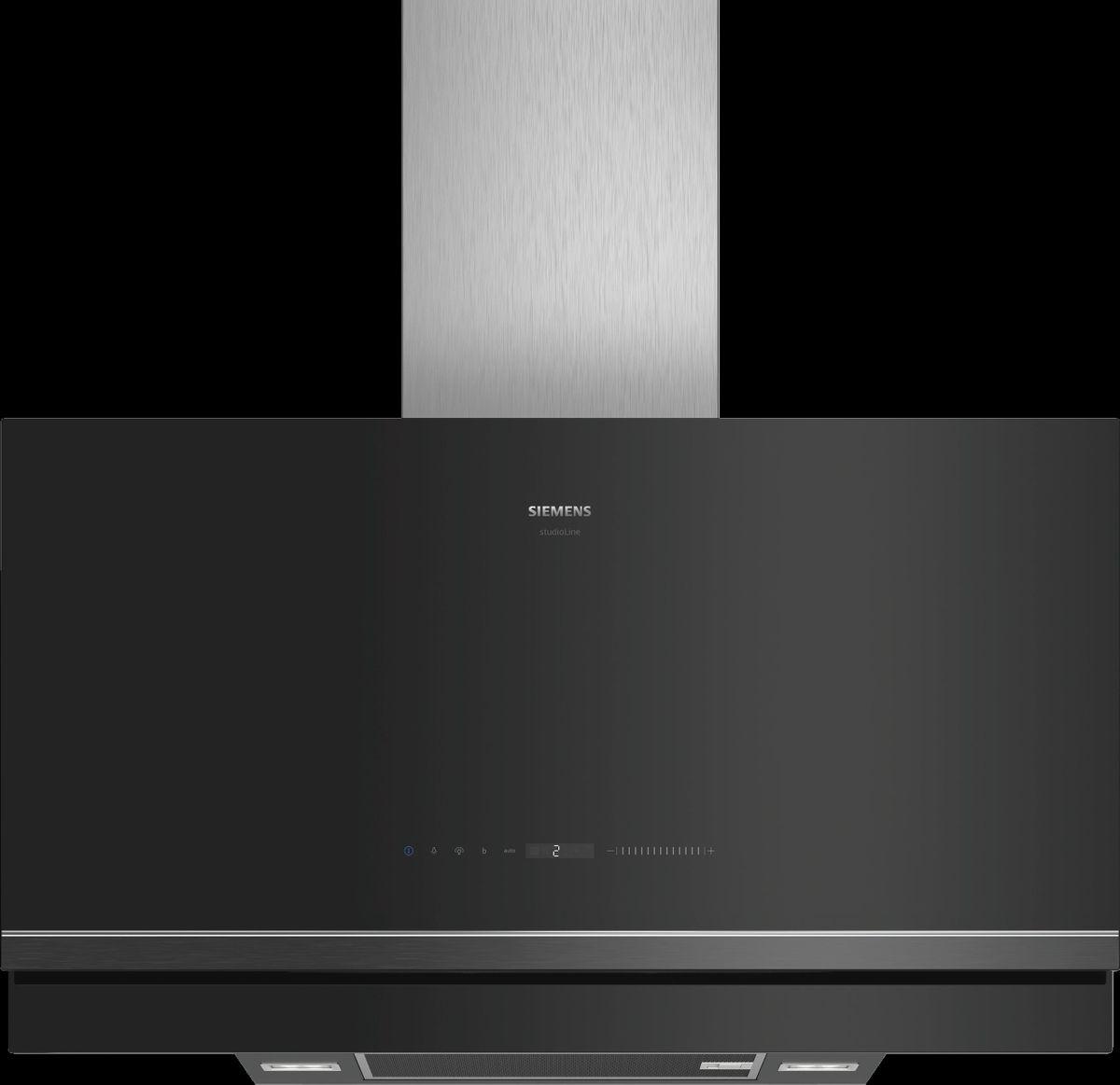 blackSteel Design LC97FVW60S Schwarz mit Glasschirm Wand-Esse, 90 cm – Bild 1