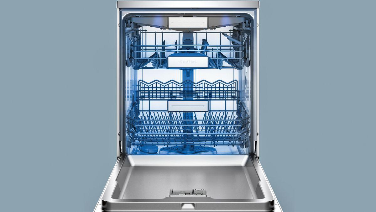 SN278I36TE »iQ700« Stand - Silver Inox speedMatic Geschirrspüler 60 cm antiFingerprint – Bild 4