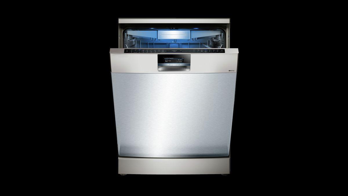 SN278I36TE »iQ700« Stand - Silver Inox speedMatic Geschirrspüler 60 cm antiFingerprint – Bild 7
