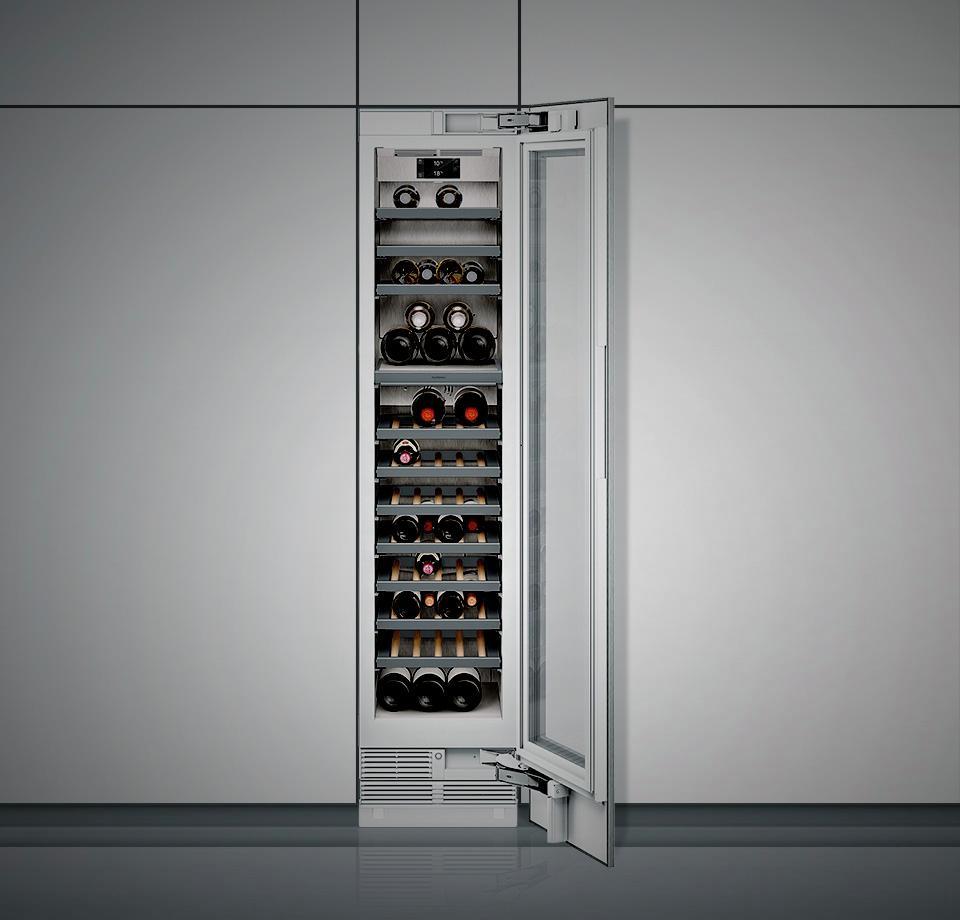 RW414364 Vario Weinklimaschrank Serie 400 Voll integrierbar, mit Glastür Nischenbreite 45.7 cm, Nischenhöhe 213.4 cm – Bild 5