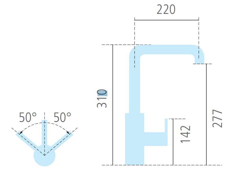 NOBILI LIVE Armatur chrom mit ausziehbarer Schlaubrause 720045 Hochdruck + 5 Jahre Garantie – Bild 3